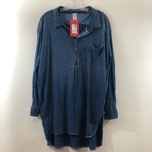 NWT Flawed Free People Chambray Tunic Size S